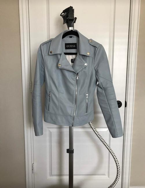 Guess light blue Leather Jacket Image 1