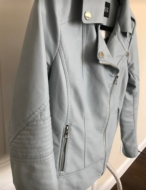 Guess light blue Leather Jacket Image 2