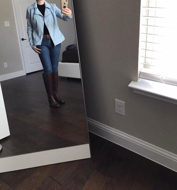 Guess light blue Leather Jacket Image 3