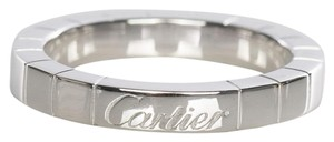 Cartier Authentic CARTIER 18k White Gold Lanières Ring Size 5
