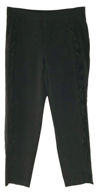 Preload https://img-static.tradesy.com/item/25685080/zara-black-woman-ruffle-trim-poly-s-pants-size-6-s-28-0-1-650-650.jpg