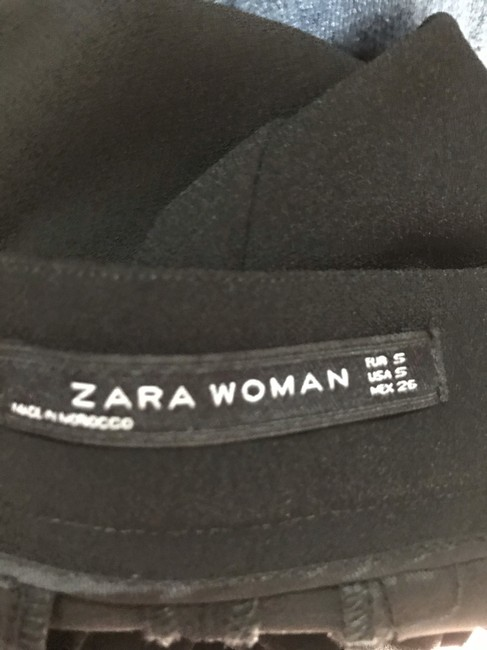 Zara Trouser Pants Black Image 6