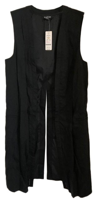Preload https://img-static.tradesy.com/item/25685101/bebe-black-linen-detail-long-vest-size-10-m-0-1-650-650.jpg