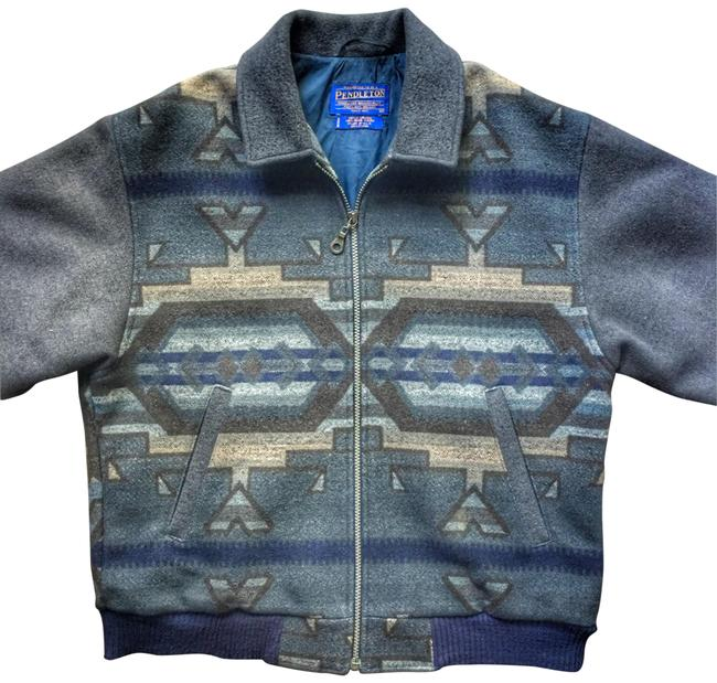 Preload https://img-static.tradesy.com/item/25685140/pendleton-blue-grey-western-wear-wool-bomber-jacket-size-10-m-0-3-650-650.jpg