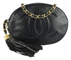 Chanel Vintage Tassel Lambskin Cross Body Bag