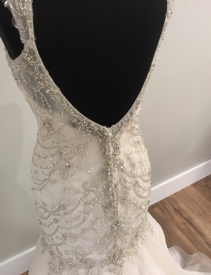 Maggie Sottero Ivory/Light Gold 5652 Traditional Wedding Dress Size 10 (M) Image 5
