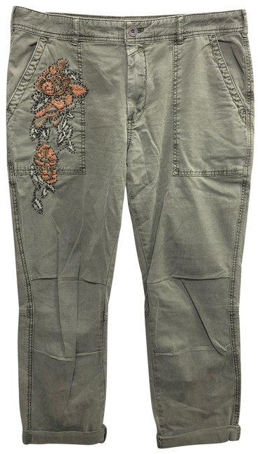 Item - Army Green The Wanderer Embroidered Cotton 30 Pants Size 8 (M, 29, 30)