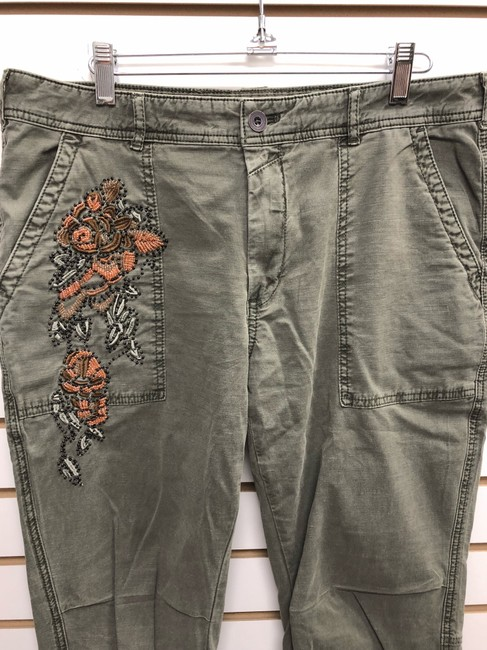 Anthropologie Wanderer Capri/Cropped Pants ARMY GREEN Image 1