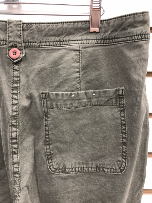 Anthropologie Wanderer Capri/Cropped Pants ARMY GREEN Image 4