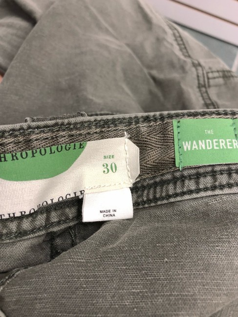 Anthropologie Wanderer Capri/Cropped Pants ARMY GREEN Image 5