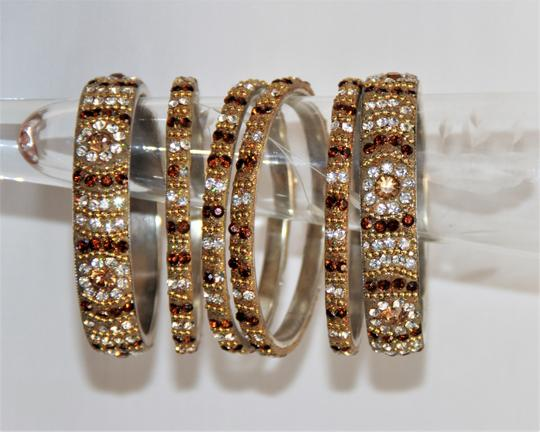 BOLLYWOOD Bollywood Opulent with Crystals over Metal Bangle Bracelets Image 2