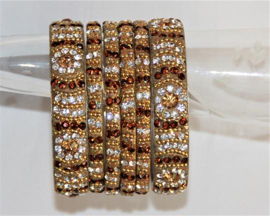 BOLLYWOOD Bollywood Opulent with Crystals over Metal Bangle Bracelets Image 6
