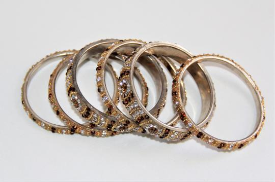 BOLLYWOOD Bollywood Opulent with Crystals over Metal Bangle Bracelets Image 8