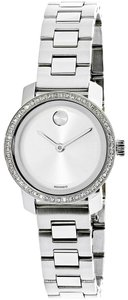 Movado Bold Stainless Petite Diamond Dial 3600214 Womens