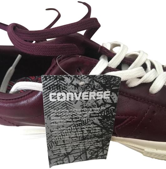 Sangria/ Dark Burgandy All Star Leather Chuck Taylor Sneakers