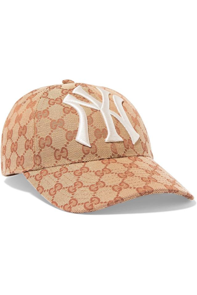 49149d78 Gucci Beige Baseball Cap with New York Yankees Patch Hat