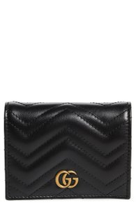 Gucci NEW GG Marmont Matelassé Leather Card Case Holder Wallet