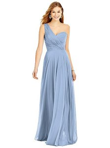 Dessy Cloudy Blue Lux Chiffon Group Formal Bridesmaid/Mob Dress Size 2 (XS)