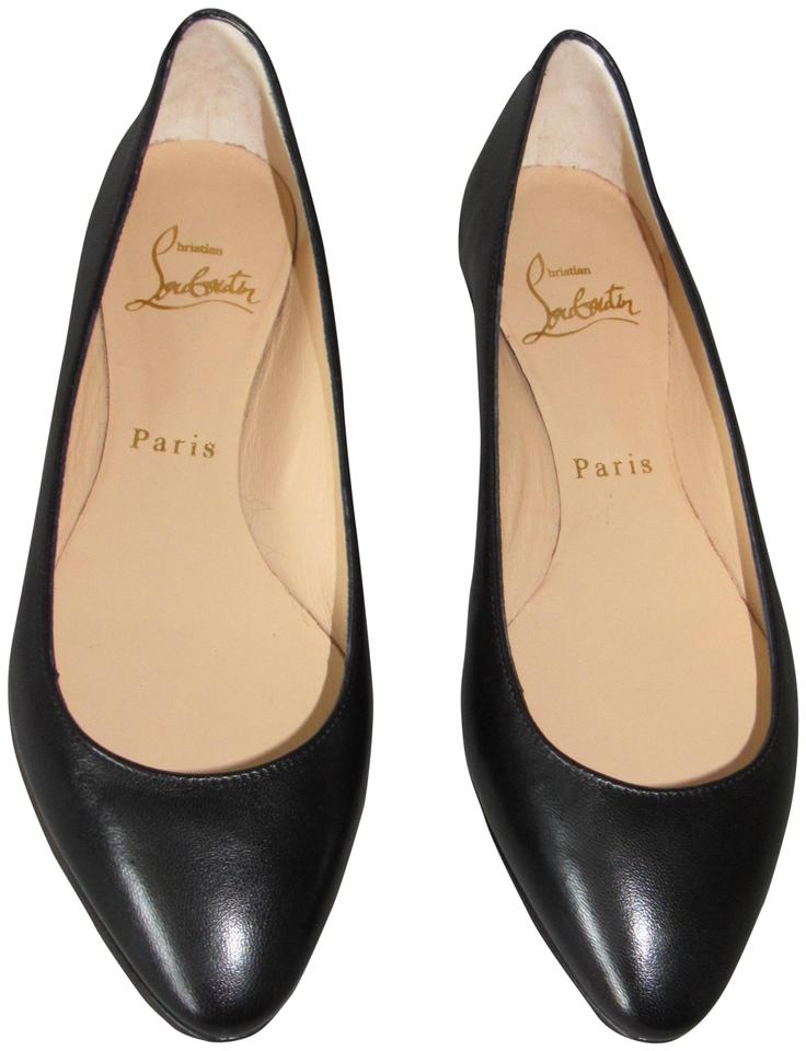 low priced 72e97 09f5e Christian Louboutin Black New Eloise Classic Leather Ballet Flats Size EU  36 (Approx. US 6) Regular (M, B) 27% off retail