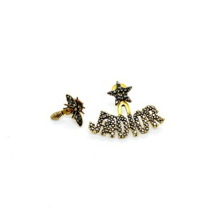 Dior J'Dior Antique Gold Asymmetrical Insect Stud