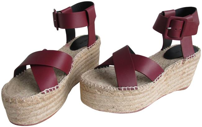 Item - Burgundy Leather Espadrille Sandals Wedges Size EU 41 (Approx. US 11) Regular (M, B)
