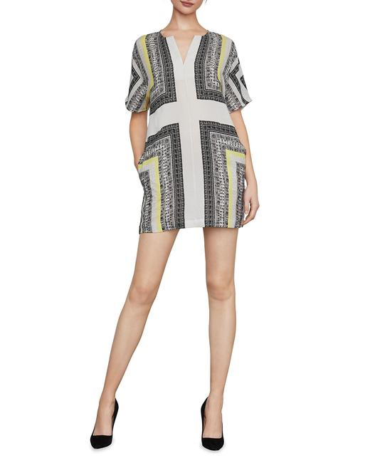 Item - Multicolor Graphic Scarf Printed Shift Short Casual Dress Size 4 (S)