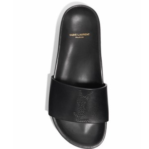 Saint Laurent Joan Ysl Tribute Slide Slides black Sandals