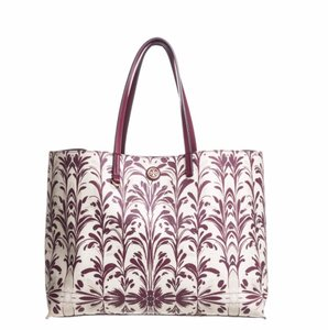Tory Burch Tote in Burgundy Floral Print