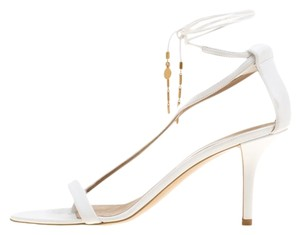 Stella McCartney Leather Open Toe White Sandals
