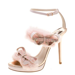 674f5ec17 Sophia Webster Leather Embellished Ankle Strap Pink Sandals