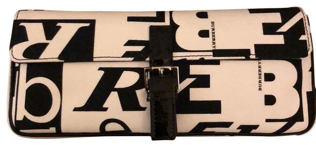 Item - White and Black Canvas Clutch