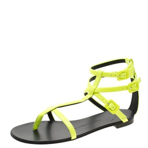 172984aee Giuseppe Zanotti Leather Ankle Strap Green Sandals