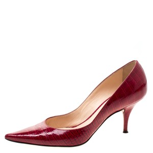 Casadei Patent Leather Pointed Toe Red Pumps