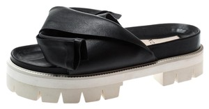 N°21 Leather Platform Black Sandals