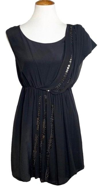 Preload https://img-static.tradesy.com/item/25688089/mm-couture-black-miss-me-silk-shirred-blouson-short-night-out-dress-size-4-s-0-1-650-650.jpg