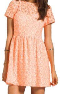 MM Couture short dress Cream Coral on Tradesy
