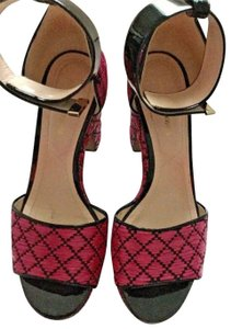 Nicholas Kirkwood Pink and Black Platforms