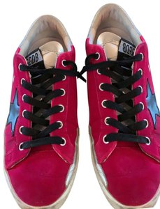 Golden Goose Deluxe Brand black silver and pink Athletic