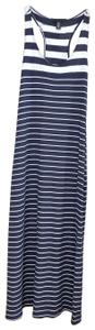 navy blue & white Maxi Dress by Kenneth Cole
