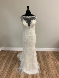 Sophia Tolli Ivory Lace with 11704 Traditional Wedding Dress Size 12 (L)