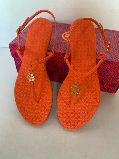 Tory Burch Poppy Coral Sandals Image 2