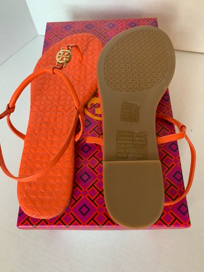 Tory Burch Poppy Coral Sandals Image 4