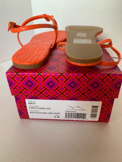 Tory Burch Poppy Coral Sandals Image 5