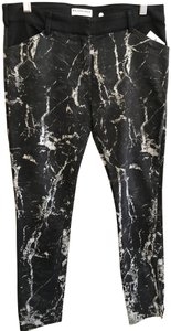 Balenciaga Paris France Marble Zipper Skinny Jeans