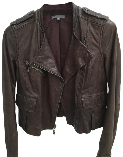 Item - Brown Leather Jacket Size 2 (XS)