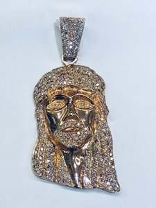 Jacob & Co. INCREDIBLE!! BRAND NEW!! Jacob & Co. 14k Rose Gold with Pink and White Diamond Jesus Pendant