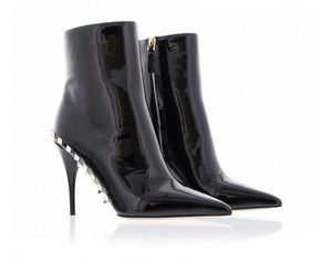 Valentino Studded Patent Black Boots