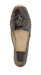 Tory Burch Lonnie Espadrille Black Toasted Wheat Flats