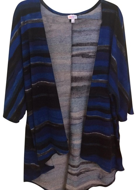 Item - Lindsay Blue with Black Olive and Gray Sweater