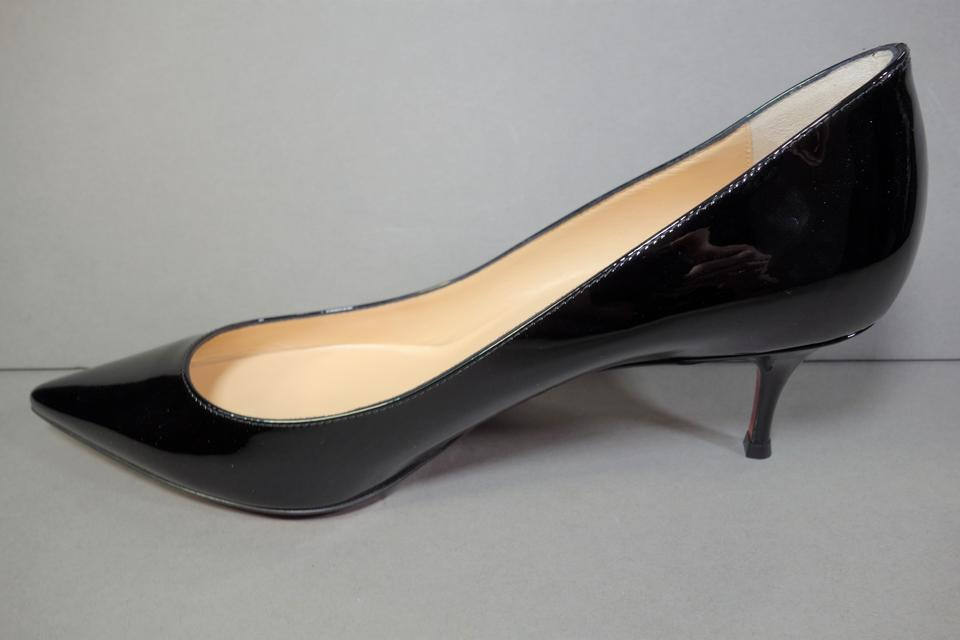 official photos 9b4c0 f22e8 Christian Louboutin Black Pigalle Follies 55 Patent Kitten Sold Out New  Point Toe Pumps Size EU 39 (Approx. US 9) Regular (M, B)